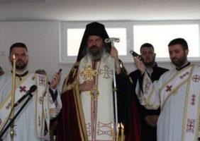 Епископ Исихије освештао Светосавски дом у Будисави