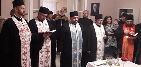Освећење обновљеног парохијског дома у Надаљу
