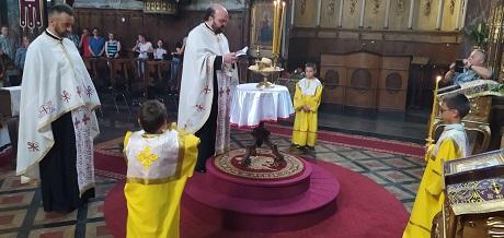 Навечерје празника Светог свештеномученика Саве Горњокарловачког и Молског у Молу